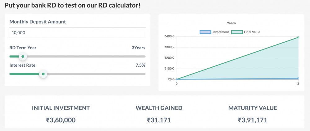 how to use RD calculator?